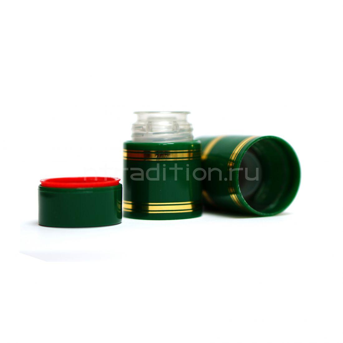 Полимерный колпачок с дозатором зелёный (Гуала 47 мм) / 10 шт