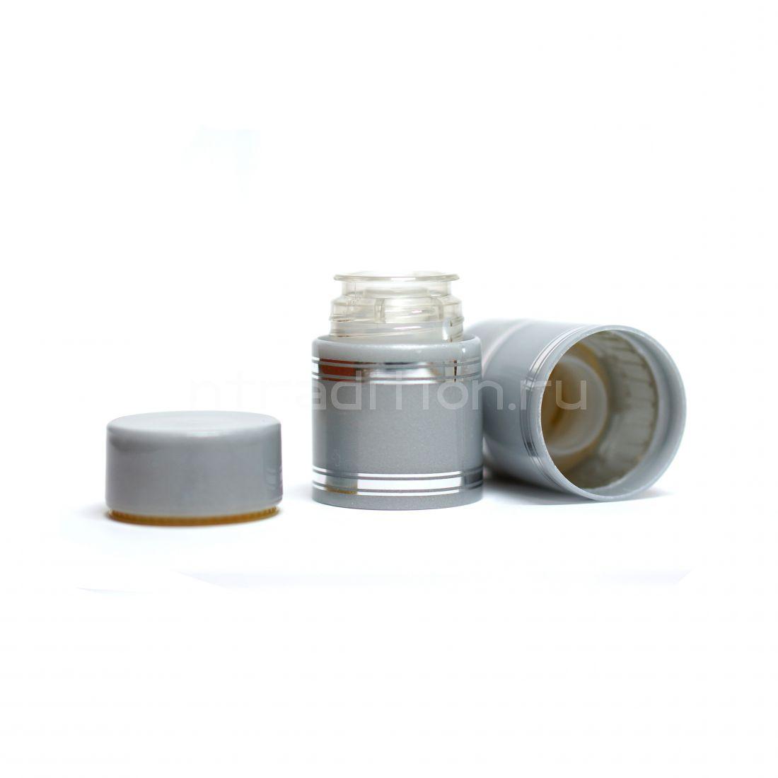 Полимерный колпачок с дозатором серебристый (Гуала 47 мм) / 10 шт