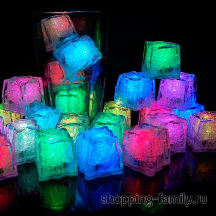 Светящиеся кубики светодиодного льда, 10 шт