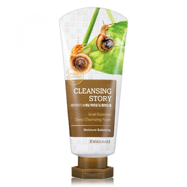 Корейская пенка для умывания WELCOS Cleansing Story Snail Essential Deep Cleansing Foam