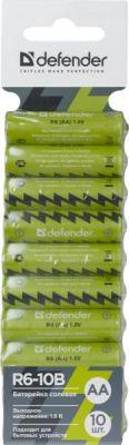 Батарейка солевая R6-10B AA, в блистере 10 шт