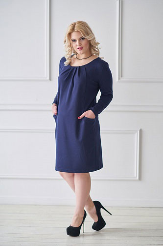 Платье арт.0120 темно-синее, милано