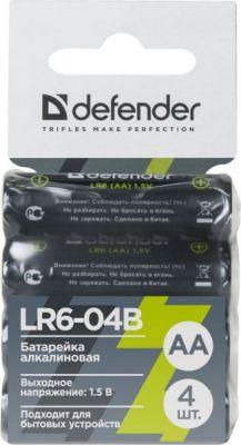 Батарейка алкалиновая LR6-04B AA, в блистере 4 шт