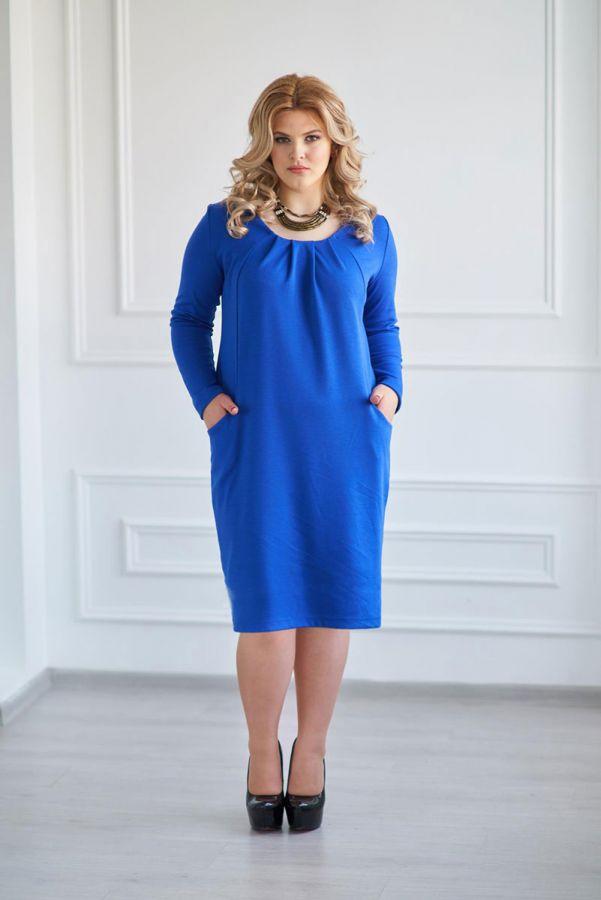Платье арт.0120-23 васильковое, милано