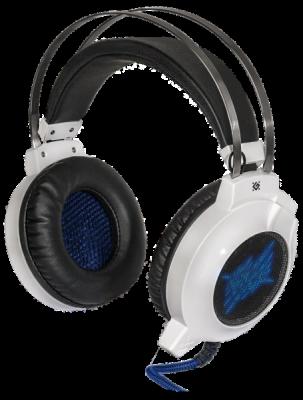 Игровая гарнитура Icefall G-510D белый+синий, кабель 2,2 м