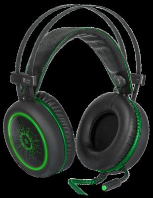 НОВИНКА. Игровая гарнитура DeadFire G-530D черный+зеленый, кабель 2,2 м