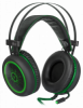 Распродажа!!! Игровая гарнитура DeadFire G-530D черный+зеленый, кабель 2,2 м