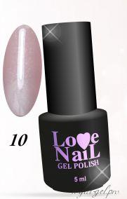 10 COVER BASE Lovely LoVe Nail  c микроблеском