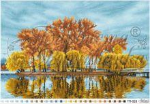 ТП028 Барвиста Вышиванка. Осенний Островок Посреди Озера. А2 (набор 3900 рублей)