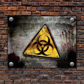 Металлическая табличка на стену Biohazard