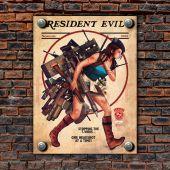 Металлическая табличка на стену Resident Evil