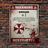 Металлическая табличка на стену Warning