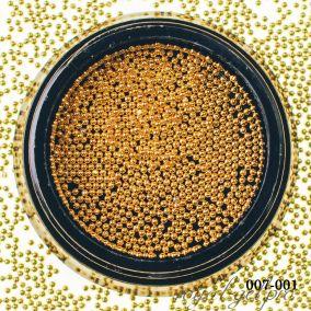 Бульонки металлические Hanami, золото, 1мм 3 гр.