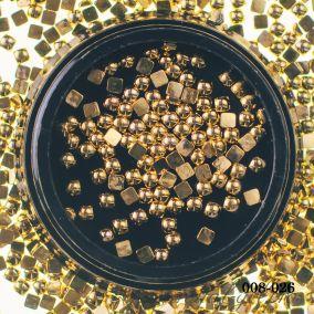 Металлический дизайн Hanami Бусина квадрат, золото, 3мм 2 гр.