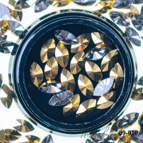 Кристалл золото АВ лепесток 7 мм. 20 шт.