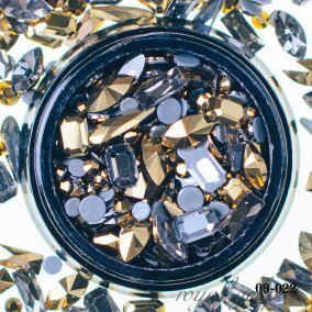 Кристаллы золото АВ микс форм и размеров 6 гр.