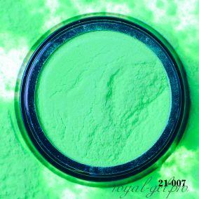 Акриловая пудра Hanami однотонная, зелёный неон 2 гр.