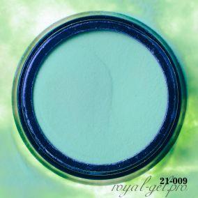 Акриловая пудра Hanami однотонная, зелёный 2 гр.