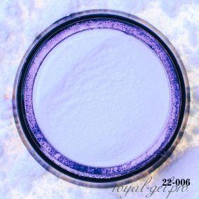 Металлический пигмент для втирки Hanami Синий жемчуг 2 гр.