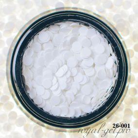 Камифубики Hanami Кружки, белый, 3мм