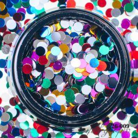 Камифубики Hanami Кружки, цветной микс, 3мм