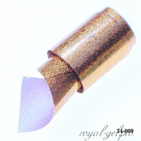 Фольга для литья Hanami голографическая, Мелкий песок, золото 1м.