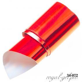 Фольга для литья Hanami голографическая, Лазер, красный 1м.