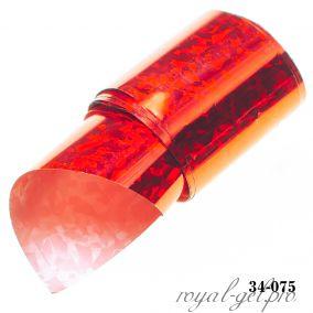Фольга для литья Hanami голографическая, Абстракция, красный 1м.