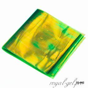 Фольга Битое стекло Hanami, зелёный хамелеон 1м.