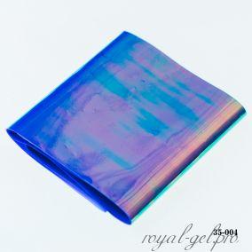 Фольга Битое стекло Hanami, сине-фиолетовый хамелеон 1м.