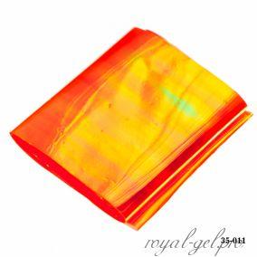 Фольга Битое стекло Hanami, оранжевый хамелеон 1м.