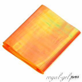 Фольга Битое стекло Hanami, оранжевый 1м.