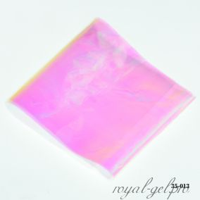 Фольга Битое стекло Hanami, розово-салатовый хамелеон 1м.