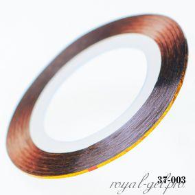 Клейкая лента для дизайна ногтей лазерное золото толщина 1 мм. 20 м.