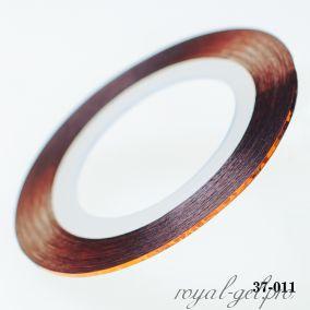 Клейкая лента для дизайна ногтей лазерная бронза толщина 1 мм. 20 м.
