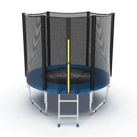 Батут с внешней сеткой и лестницей Evo Jump External 6ft Blue