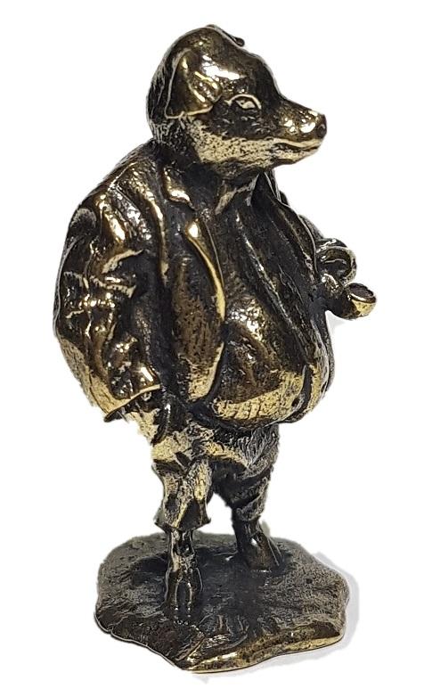 Фигурка Свинья в пиджаке Бронза