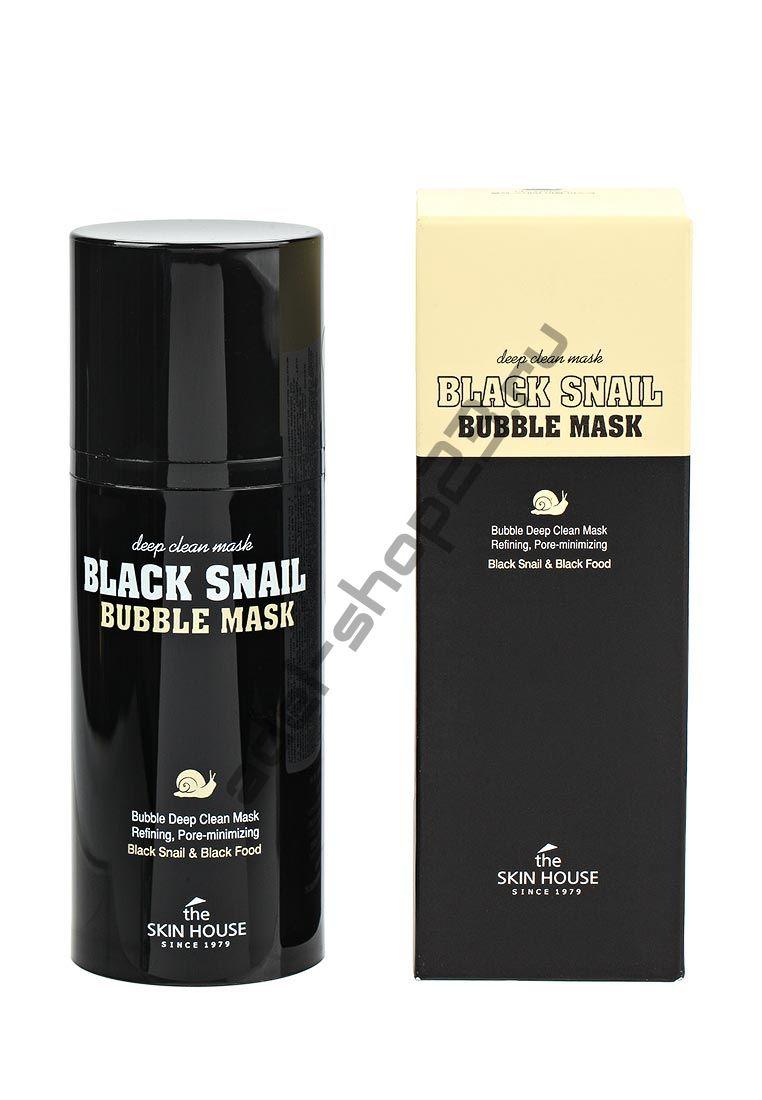THE SKIN HOUSE - Очищающая кислородная маска с экстрактом улитки Black Snail Bubble Mask