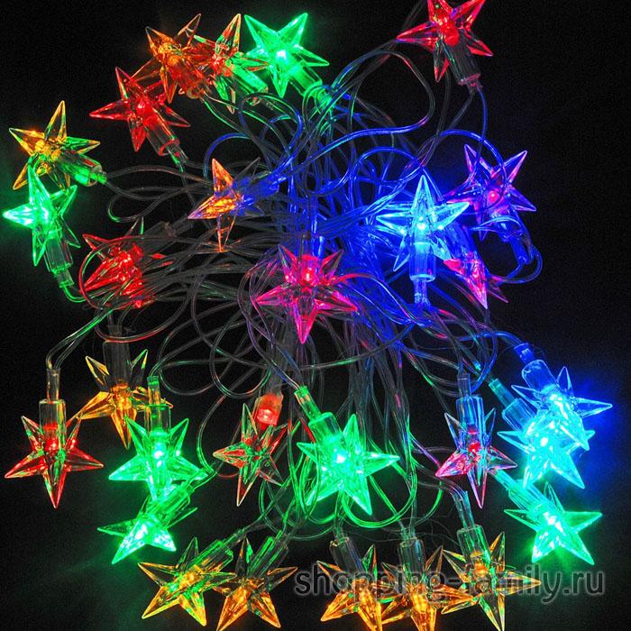Электрическая светодиодная гирлянда Звездочки