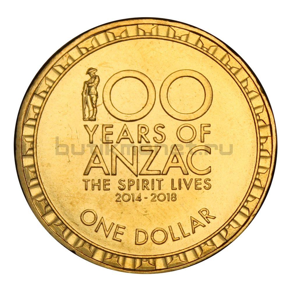 1 доллар 2014 Австралия 100 лет АНЗАК