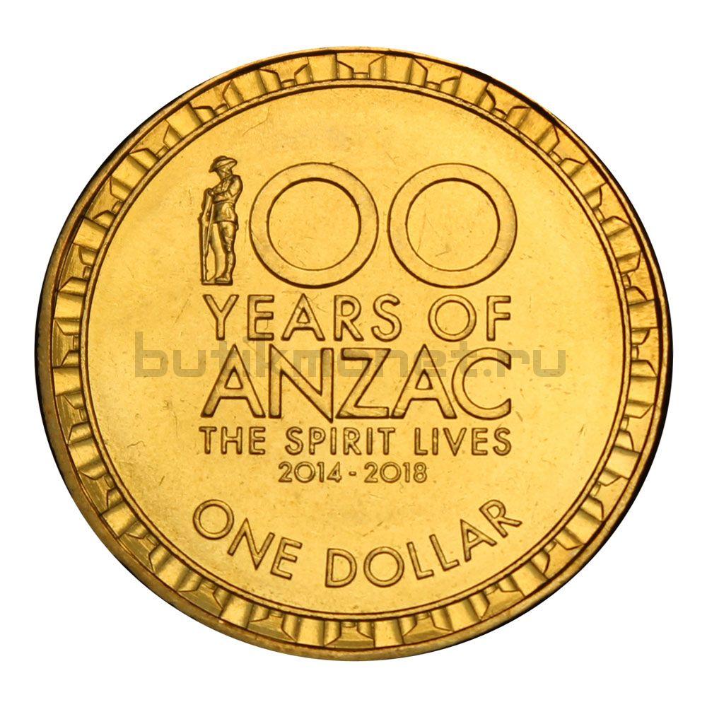 1 доллар 2015 Австралия 100 лет АНЗАК