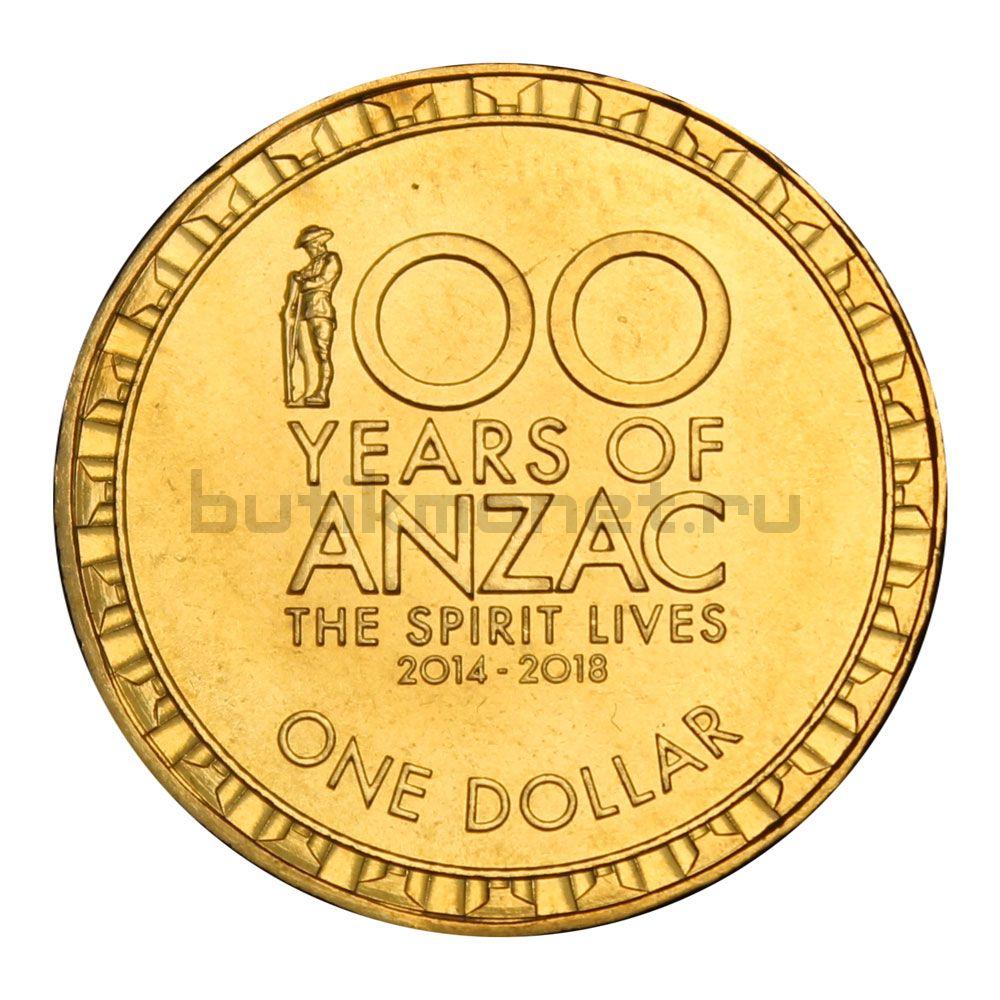 1 доллар 2016 Австралия 100 лет АНЗАК