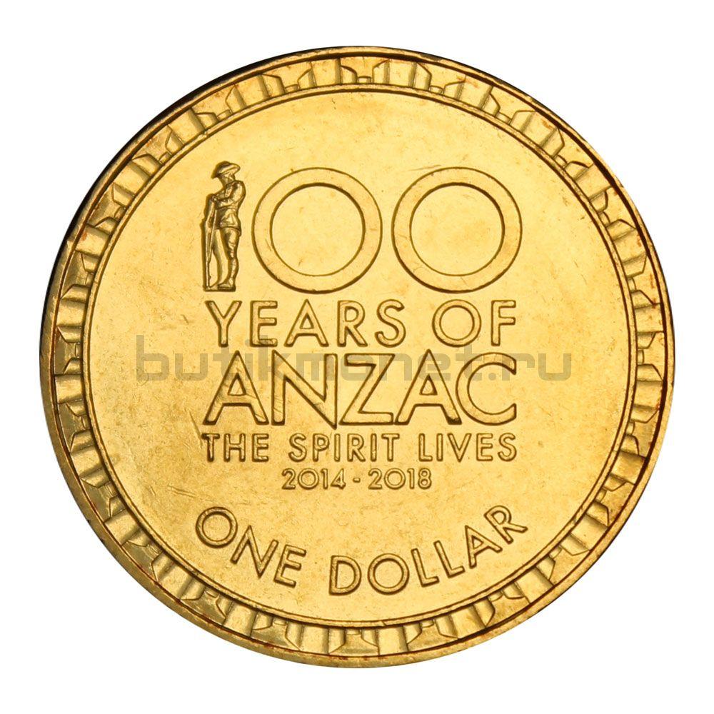1 доллар 2017 Австралия 100 лет АНЗАК