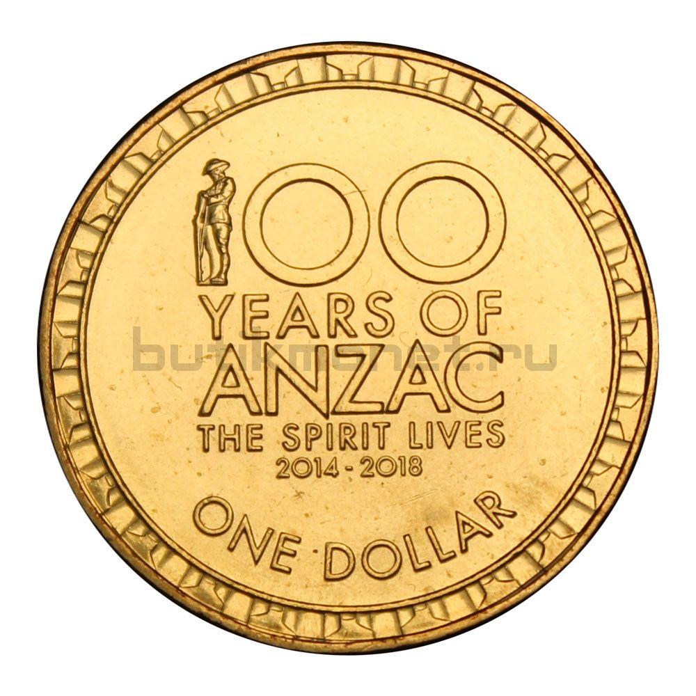1 доллар 2018 Австралия 100 лет АНЗАК