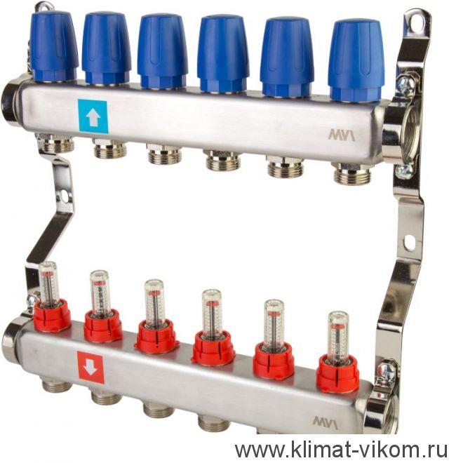 Коллектор MVI с расходомерами на 6 выходов