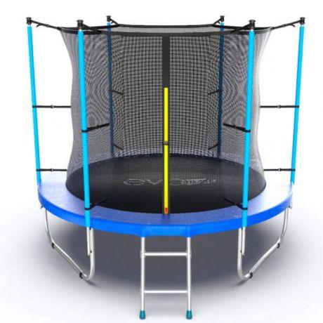 Батут с внешней сеткой и лестницей Evo Jump External 8ft Blue