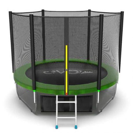 Спортивный батут с сеткой Evo Jump External 8ft Lower net Green
