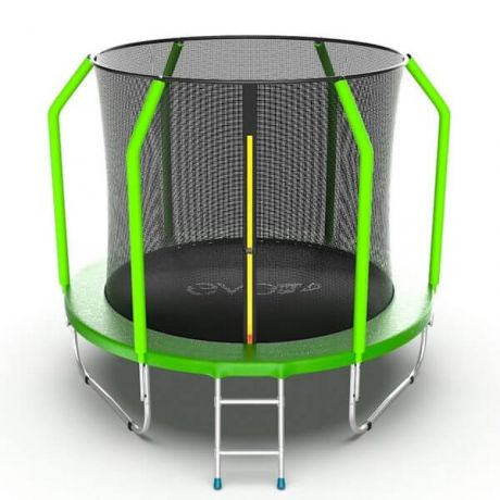 Батут с внутренней сеткой и лестницей Evo Jump Cosmo 8ft Green