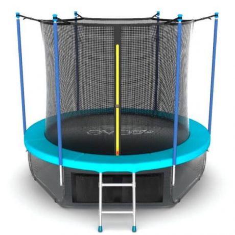 Батут с внутренней сеткой и лестницей Evo Jump Internal 10ft Wave