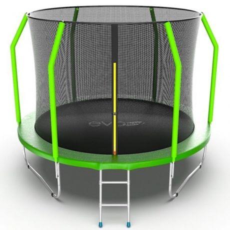 Батут с внешней сеткой и лестницей Evo Jump Cosmo 10ft Green